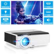 """LED Multimedia Video Projector 5000lm High Brightness Home Theater System Support Full HD 1080P HDMI Movie Projectors for Gaming Max 200"""" Compatible with Blu Ray DVD PC Roku USB TV Stick"""
