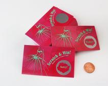 Wedding Dress – Pink Card/Green Dress – Bridal Shower Scratch Off Game Card – 25 pack – My Scratch Offs