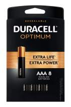 Duracell Optimum AAA Batteries | 8 Count | Long Lasting Triple A Battery | Alkaline AAA Battery