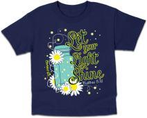 Lightning Bug Kids Tee Let Your Light Shine Girls Glow in The Dark T-Shirt