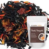 Peach Strawberry Vineyard Black Tea - Premium Loose Leaf Tea - Gourmet Hot or Iced Fruit Flavored Dessert Tea - 5 oz Pouch