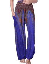CHRLEISURE Elephant Hippie Harem Pants for Women - Boho Gypsy Beach Palazzo Indian Pants