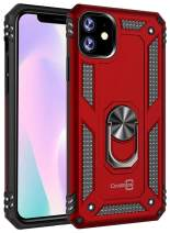 CoverON Metal Ring Holder Kickstand Resistor Series for iPhone 11 Case (2019), Red