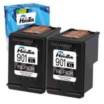 HavaTek Remanufactured Ink Cartridge Replacment for HP 901 901XL Used for HP Officejet J4550 J4680 J4580 J4540 J4680c J4524 J4525 J4535 J4585 J4624 J4660 Printer (2 Black, 2 Pack)