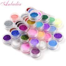 Anladia Face Glitter Makeup, Holographic Chunky Body Glitter 45 Colors Festival Glitter Nail Art Nail Decoration Flakes Pigments for Face Eye Hair Body