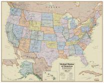 Hemispheres Hemispheres Boardroom Series United States Laminated Wall Map (HM04)