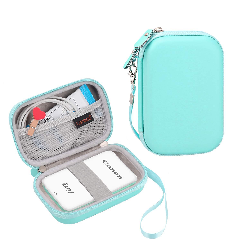 Canboc Carrying Case for Canon Ivy Mini CLIQ CLIQ+ Instant Camera Printer Wireless Bluetooth Mobile Portable Photo Printe, Mint Green