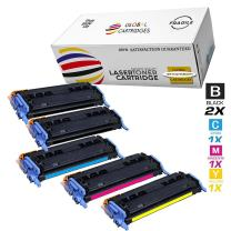 Global Cartridges Remanufactured Toner Cartridge Set With Extra Black Replacement for HP 124A/HP 2600(2 Black, 1 Cyan, 1 Yellow, 1 Magenta, 5-Pack)