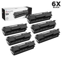 LD Compatible Toner Cartridge Replacement for HP 12A Q2612A (Black, 6-Pack)