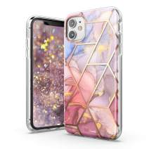 TiTiShark Marble Series Case for iPhone 11 Case, Slim Thin Glossy Soft TPU Rubber Gel Phone Case Cover Compatible iPhone 11 6.1 Inch 2019 Release-Purple