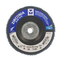 "Mercer Industries 332H036 Zirconia Flap Disc, High Density, Type 29, 4-1/2"" x 5/8""-11, Grit 36, 10 Pack"