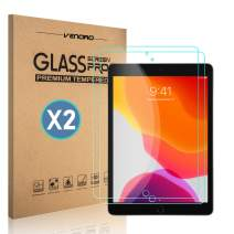 "[2 Pack] Venoro iPad 10.2"" 2019 Screen Protector, iPad 7th Generation Screen Protector, 9H Hardness Anti-Fingerprint HD Tempered Glass Screen Protector for Apple iPad 10.2''"