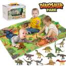 LBLA Dinosaur Toys ,Realistic Dinosaur Figures with Activity Play Mat & Trees,Dinosaurs Toys for Toddlers Kids ,Educational Dinosaur Playset for 3,4,5,6 Years Old Kids, Boys & Girls,24PCS