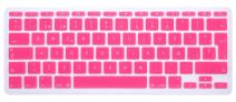 "HRH Spanish Language Silicone Keyboard Cover Skin for MacBook Air 11.6 Inch MacBook 11"" A1370 A1465 European/ISO Layout Keyboard Portector-Pink"