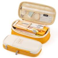 EASTHILL Big Capacity Pencil Pen Case Office College School Large Storage High Bag Pouch Holder Box Organizer Yellow Orange New Arrival