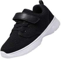 Nishiguang Toddler/Little Kids Shoes Running/Walking Lightweight Breathable Strap Sport Sneakers for Boys Girls