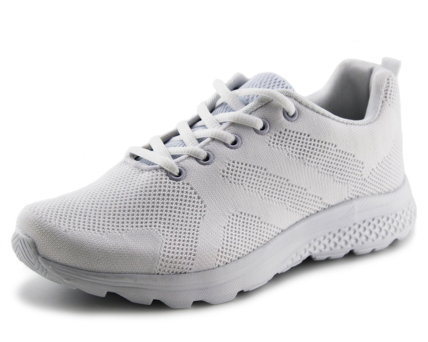 Jabasic Women's Breathable Knit Sports Running Shoes Casual Walking Sneaker