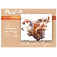Speedball Art Products 821705 Fluid 100 Artist Watercolor Paper 300 lb Cold Press, 5 x 7-Inch Pochette, 100% Cotton 12 Count