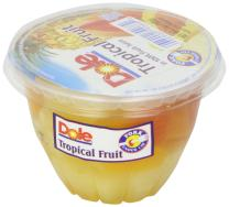 Dole Tropical Fruit In 100% Fruit Juices, 7-Ounce Containers (Pack of 12)