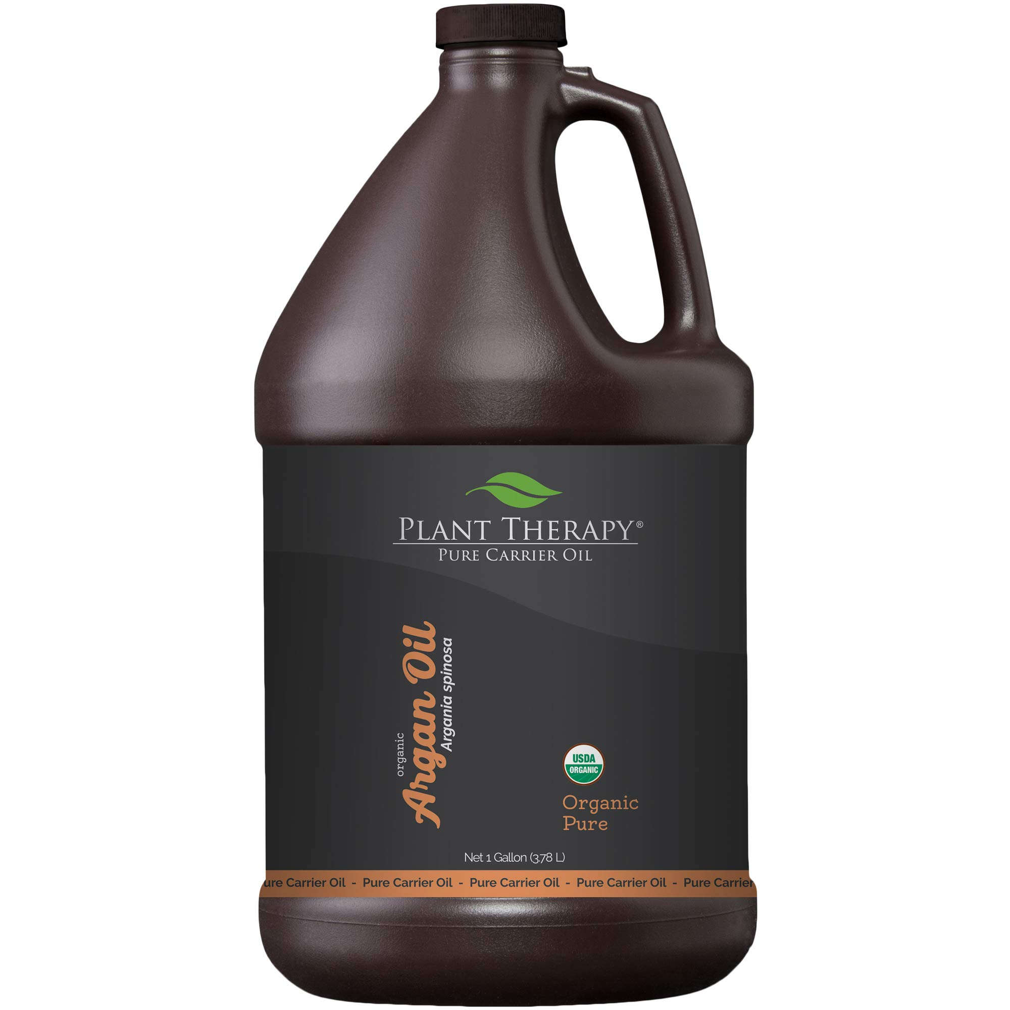 Plant Therapy Moroccan Argan Oil. 100% Pure & USDA Organic, First-Press, Virgin, For Face, Hair, Skin, Nails & Cuticles. 1 gal.