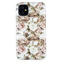 Dimaka iPhone 11 Case, White Flower Floral Design for Girls,TPU+PC Ultral Slim Thin Protective Cover for iPhone 11 (14)