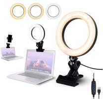 """Luling Arts USB Workbench Ring Light,6.3"""" Selfie Ring Light with Clamp Mount,Desk LED Video Conferencing Selfie Ring Light for Reading,Bed,Office,Notebook,YouTube,Makeup,Broadcast,360 Rotatable"""