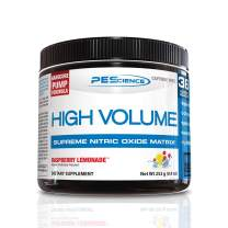 PEScience High Volume, Raspberry Lemonade, 36 Scoops, Nitric Oxide Pre Workout Powder