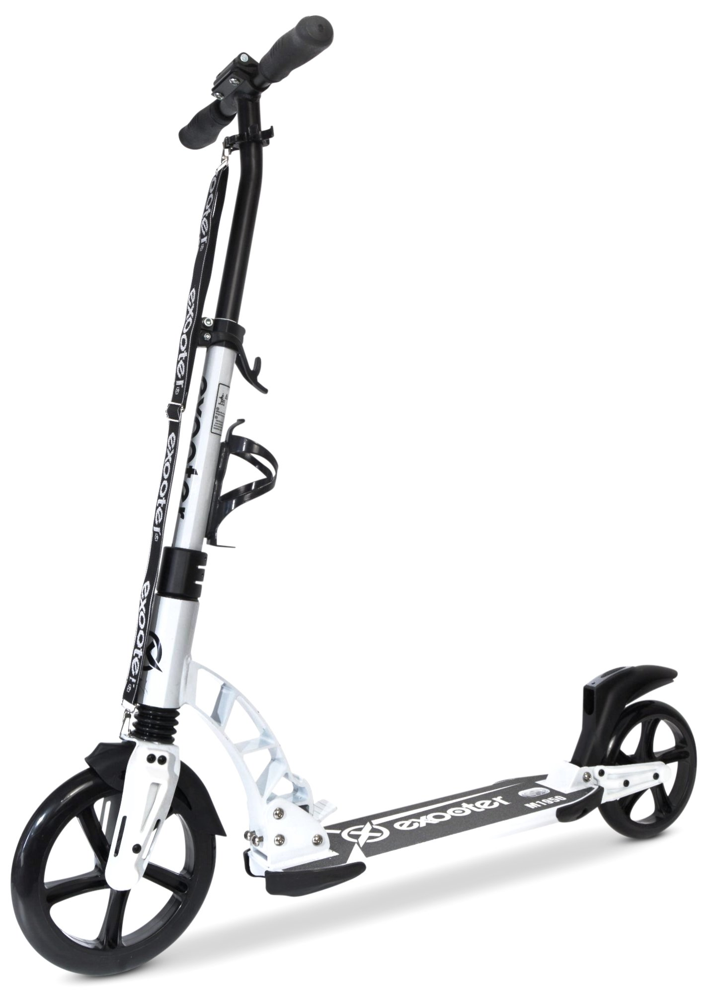 EXOOTER M1950 8XL Manual Adult Cruiser Kick Scooter with Dual Suspension Shocks and 240mm/200mm Big Wheels.