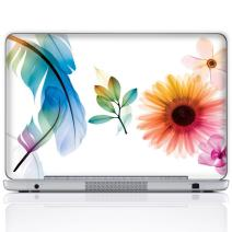 Meffort Inc 17 17.3 Inch Laptop Notebook Skin Sticker Cover Art Decal (Free Wrist pad) - Flower Leave Design
