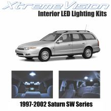 XtremeVision Interior LED for Saturn SW Series 1997-2002 (7 Pieces) Cool White Interior LED Kit + Installation Tool