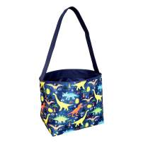 Dinosaur Easter Basket Bucket Fabric Tote Bag Toy Bin - Can Be Personalized or Monogrammed - Great Gift for Boy or Girl
