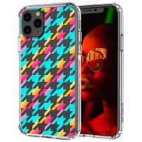 MOSNOVO iPhone 11 Pro Max Case, Houndstooth Pattern Printed Clear Design Transparent Plastic Hard Back Case with TPU Bumper Protective Case Cover for iPhone 11 Pro Max