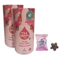 Organic Loose Leaf Tea Drops 20 Rose Earl Grey