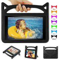 All New Fire HD 10 Tablet Case - Auorld Light Weight Shock Proof Handle Protective Cover with Stand for Fire 10.1 inch Tablet (2019&2015&2017 Released) - Black