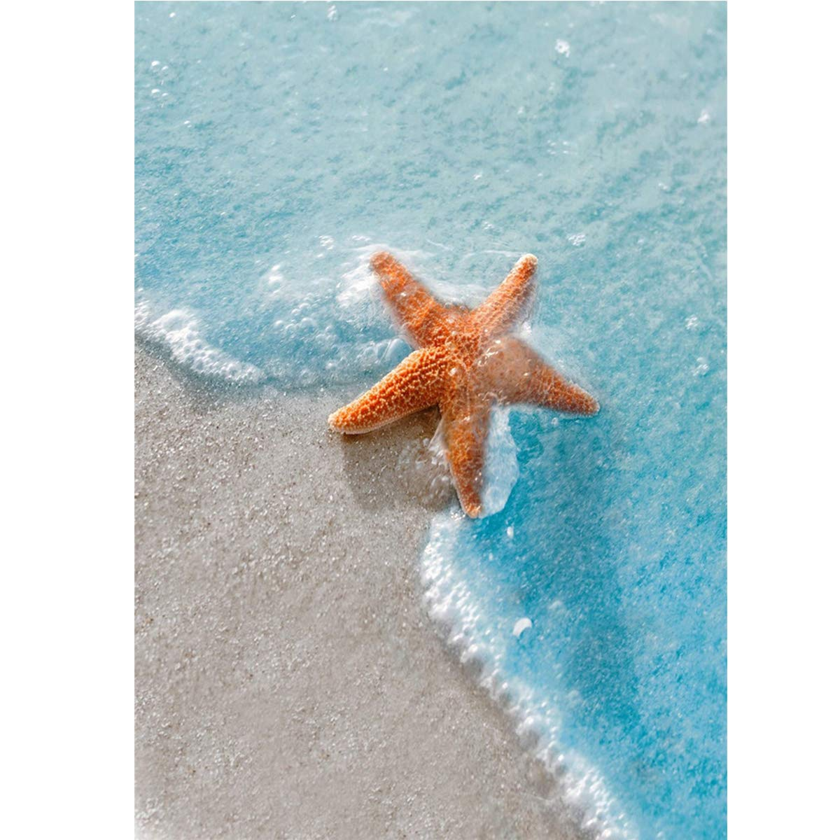 TWBB Diamond Painting for Adult 5D Diamond Painting Full Drill Paint with Diamonds fit DIY,Diamond Art Kits for Adults,Beach Oil Painting Style (Life at Beach) (Starfish)