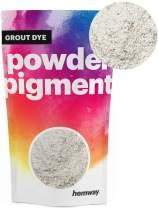 Hemway Grout Dye Pigment Concrete Colour Powder Render Mortar Pointing Powdered Brick Toner (1.8oz / 50g, Metallic Chalk White)