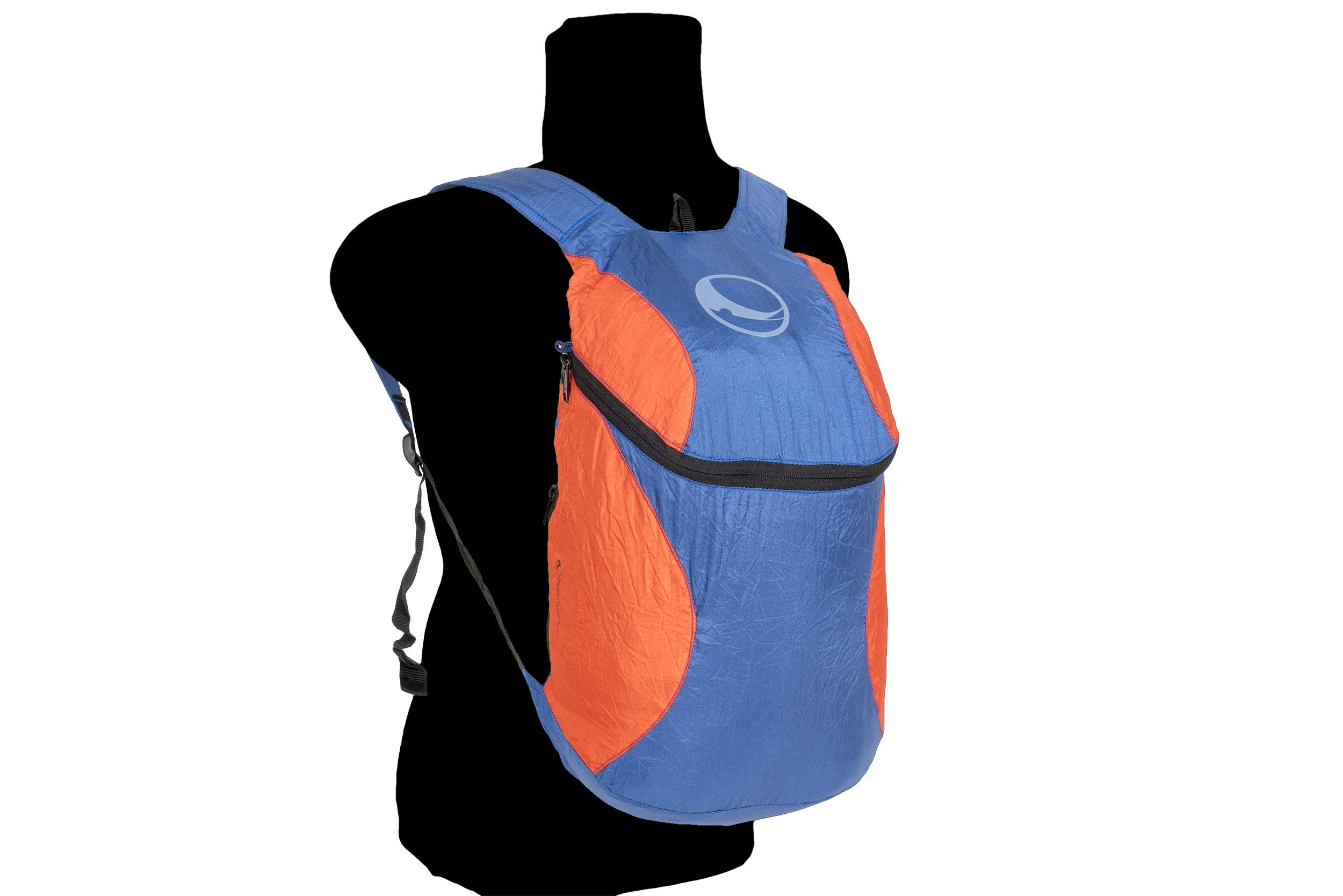 Ticket To the Moon Mini Backpack | Eco-Friendly | 28x42x15 cm | 15L Capacity (Royal Blue/Orange)