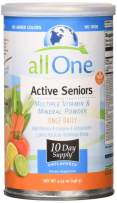 allOne Multiple Vitamin & Mineral Powder, for Active Seniors   Once Daily Multivitamin, Mineral & Amino Acid Supplement w/ 4g Protein   10 Servings
