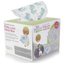 Kalencom Potette Plus Potty Seat Liners with Magic Disappearing Ink Value Box - 90 Liners