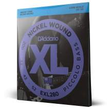 D'Addario EXL280 Nickel Wound Piccolo Bass Strings, 20-52, Long Scale
