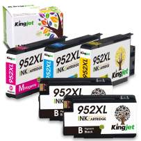 Kingjet Compatible Replacement for 952, 952XL Ink Cartridge Work with Officejet Pro 7740 8210 8216 8702 8710 8715 8720 8725 8730 8740 Printers, 5 Pack with Updated Chips in April, 2020