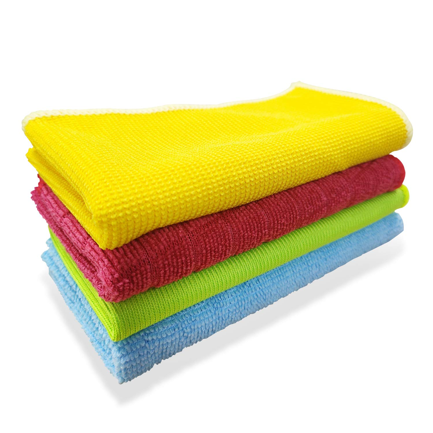Lorpect Microfiber Cleaning Cloths Softer, Multi-Functional Washable Reusable Cleaning Towels, Chemical Free for House, Kitchen, Window & Car,(12 x 12 Inch)-12 PCS