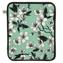Erin Condren Large Designer Planner Folio - Cherry Blossom (Seafoam/Black), Perfect Organizer for Documents, Planners, and Notebooks. Portfolio Case Holder with Zipper and Inner Pouch