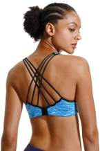 V FOR CITY Women Workout Sports Bras Strappy Criscross Yoga Bra Fitness Tops