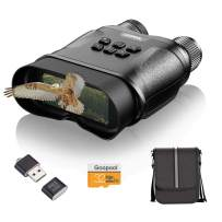 Night Vision Goggles, 1300ft Infrared Binoculars for Complete Darkness-1080P and Low Light Full Color with Camera,Spy and Surveillance