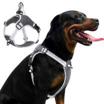LOCYFENS Dog Harness No Pull,Dog Harness Medium,Adjustable Step in Harness,Safety 360° Reflective Dog Harness,Easy Walk Dog Vest Harness Medium Size Dog,Black M