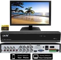"CIB True HD 1080P 8CH Recording Display DVR System with 2TB HDD Network Remote Viewing Plus 18.5"" CCTV 3D 1080P Monitor - H80P08K2TB-185M"