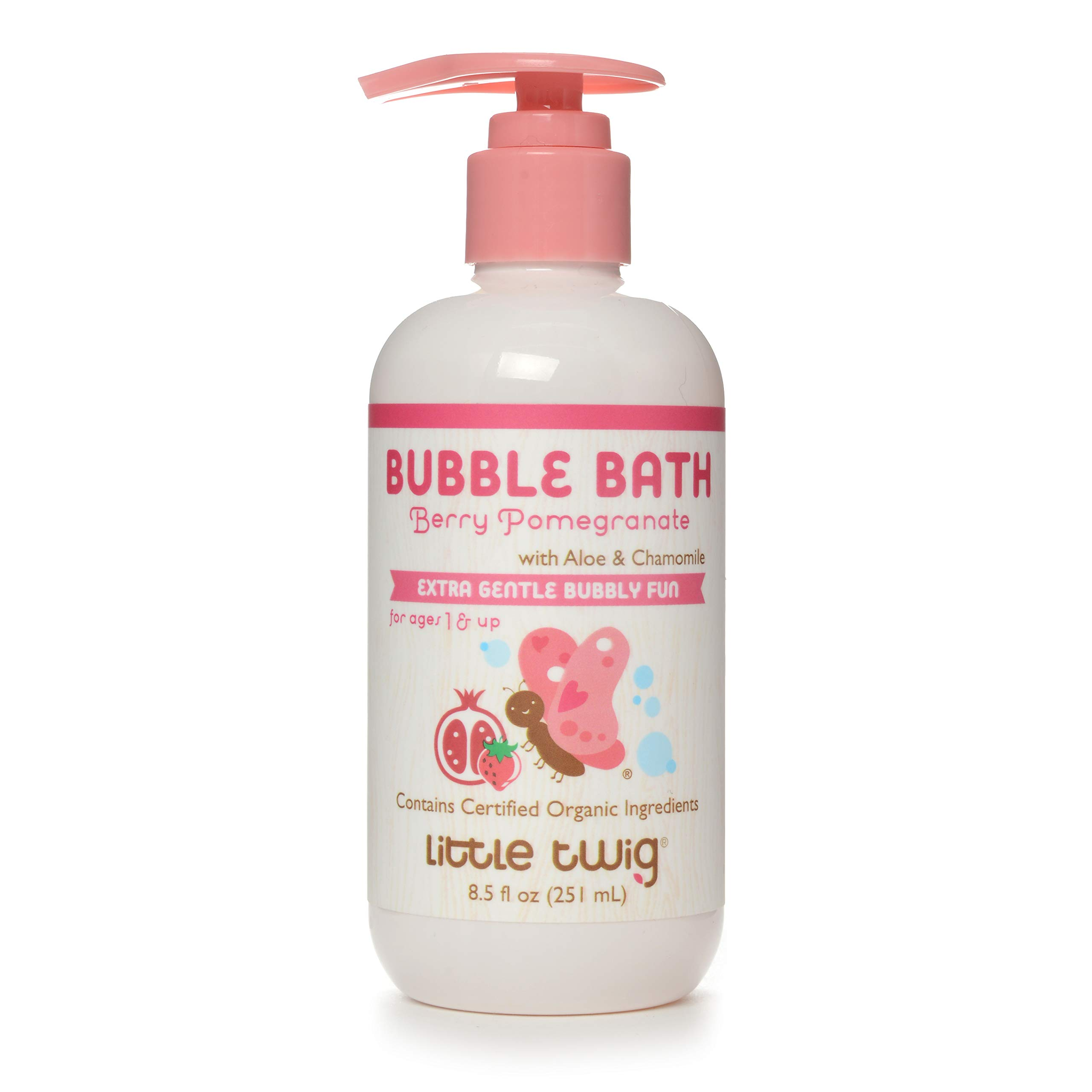 Little Twig All Natural Baby Bubble Bath, Berry Pomegranate, 8.5 Fluid Oz