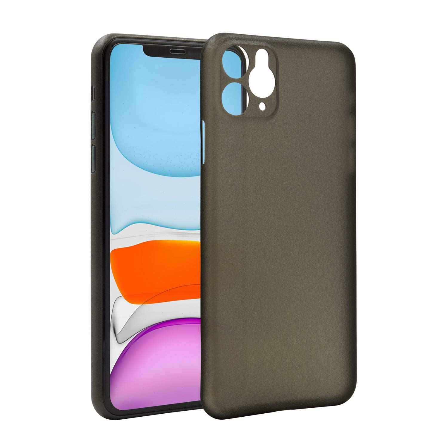 Twinscase Slim Fit Light iPhone 11 Pro Minimalist Case, Ultra-Thin Full Protective Ultra-Light Cover with Matte Finish Phone Case for iPhone 11 Pro 5.8 inch (2019), Frosted Black