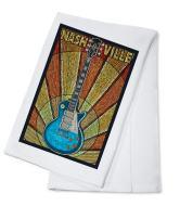 Nashville, Tennesseee - Guitar Mosaic (100% Cotton Kitchen Towel)
